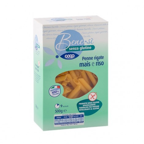 Benesì Penne Rigate with Corn and Rice Flour 500G Gluten Free