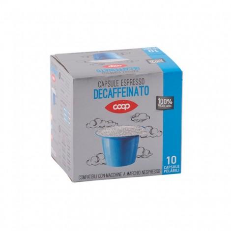 Coop Decaffeinated Capsules Coffee For Nespresso Machine 10 x 5g