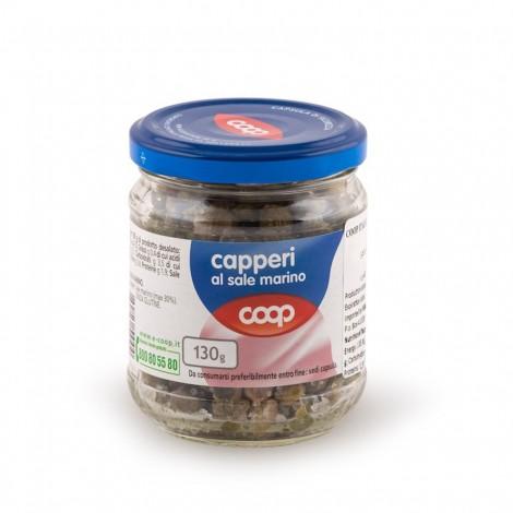 Coop Capers In Sea Salt Glass Jar 130g