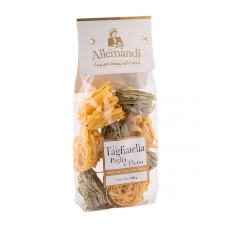 Allemandi Egg Pasta With Spinach Tagliatelle Straw and Hay 250g