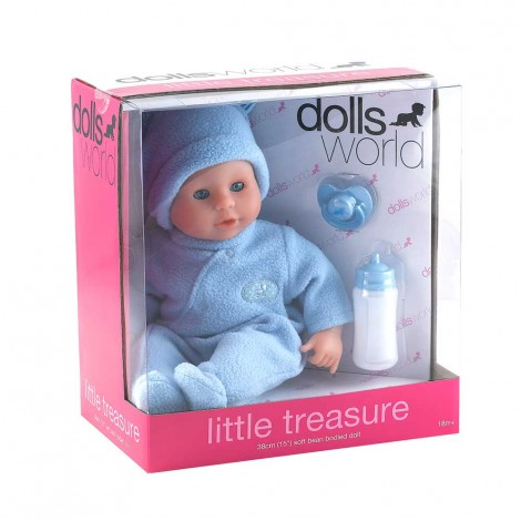 "Dolls World Little Treasure 38Cm (15"") - Blue, 8103"