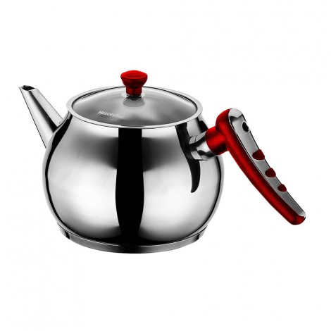 Hascevher Teapot Apple 2.2L Red