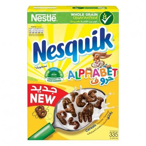 Nesquik Chocolate Alphabets Breakfast Cereal 335g