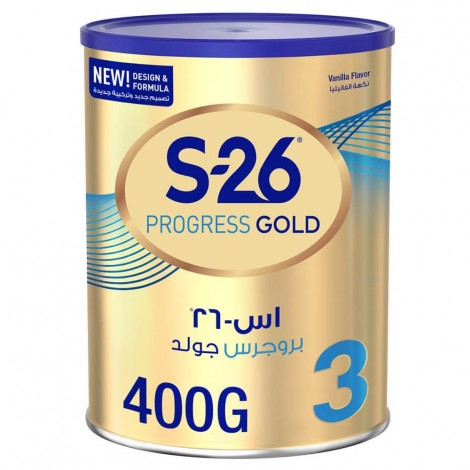 Wyeth S26 Progress Gold Stage 3, 1-3 Years Premium Milk Powder Tin 400g