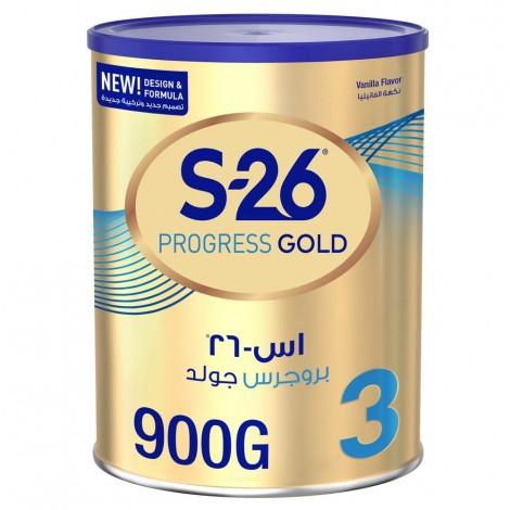 Wyeth S26 Progress Gold Stage 3, 1-3 Years Premium Milk Powder Tin 900g