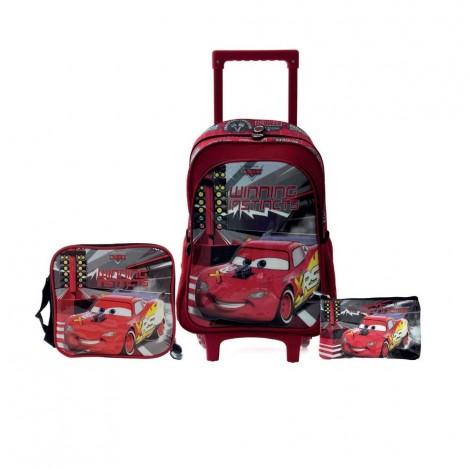 """Disney 3N1 Set, 16"""" Trolley, Lunch Bag, Pencil Case"""