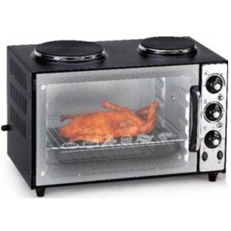 Alonsa Oven Toaster Grill 38 Liter Plus Hot Plate - Black, AL-705 OTG