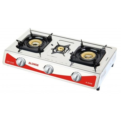 Alonsa Table Top 3 Gas Burner - Stainless Steel , AL-944 GB FFD