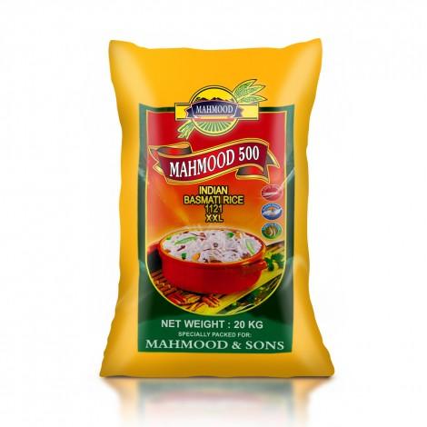 Mahmood 500 Indian 1121 Basmati Rice - 20 kg