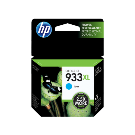 HP 933XL High Yield Cyan Original Ink Cartridge (CN055AE-BGX)