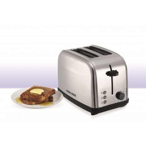 Black and Decker 2 Slice Stainless Steel Toaster, ET-222-B5