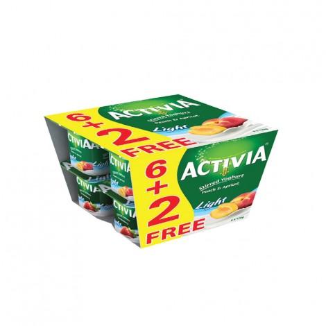 Activia Light Yoghurt Peach&APricot 8x120gm