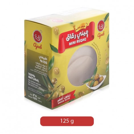 Ajeeb Green Olive Mini Riqaq Bread - 125 g