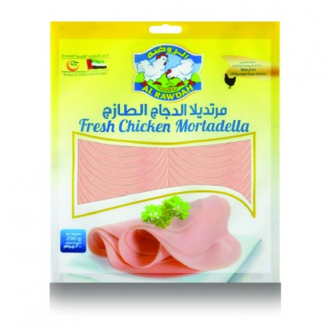 Al Rawdah Plain Chicken Mortadella - 200 g