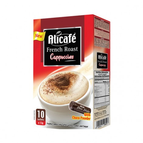 Alicafe French Roast Cappuccino - 10x13gm