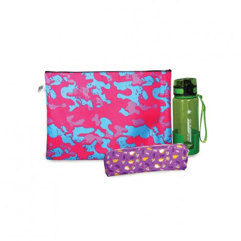 Alisun Pencil Case+ Water Bottle +Zipper