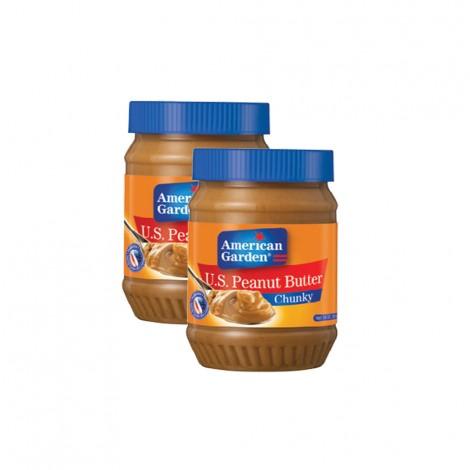 American Garden Peanut Butter Chunky - 2x18oz