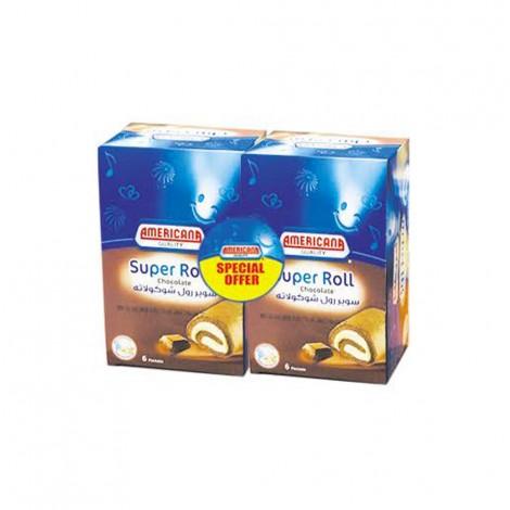 American Super Roll Chocolate - 2x6x60gm