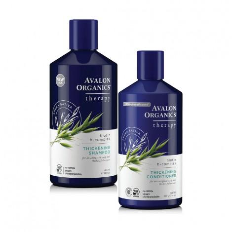 Avalon Organics Shampoo+Conditioner, 14Oz