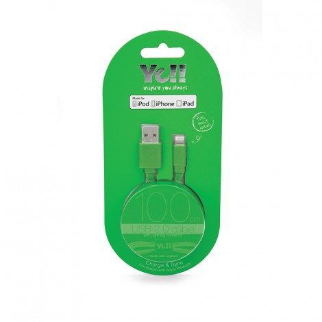 Yell Lightning Cable Green  BA10L G