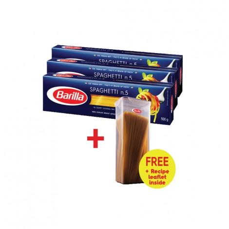 Barilla Spaghetti 3x500gm+Gift