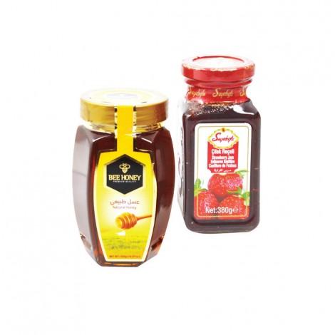 Bee Honey 500gm + Seyidoglu Assorted Jam, 380gm