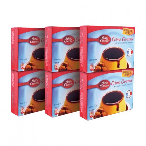 Betty Crocker Cream Caramel 6x69gm