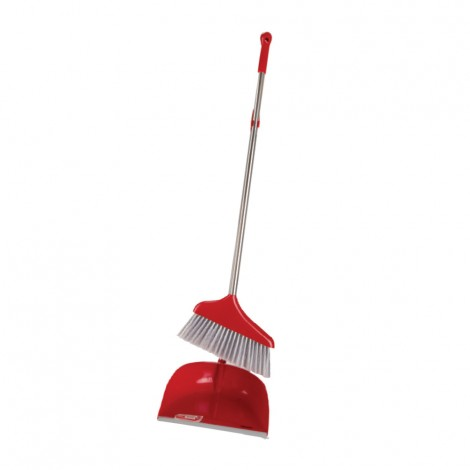 Britemax Dustpan With Broom Steel Hand