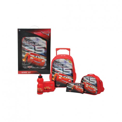 "Cars Champion H  5In1 16"" Trolley Set"