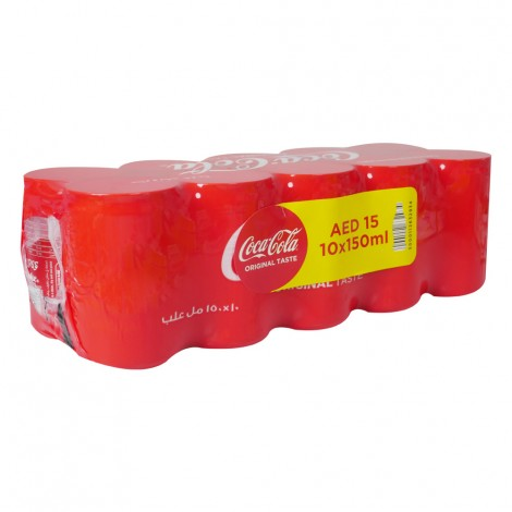 Coca Cola Soft Drink Can - 10x150ml
