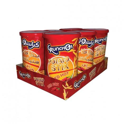 Crunchos Potato Stix Chilli, 6x45gm
