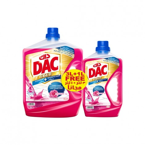 Dac Disinefectant Gold Rose 3ltr+1ltr