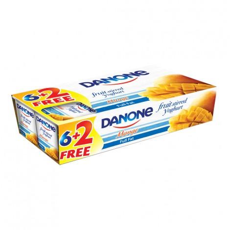 Danone Stirred Yoghurt Mango, 8x120gm