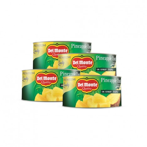 Delmonte Pineapple Chunks In Syrup 4x234 gm