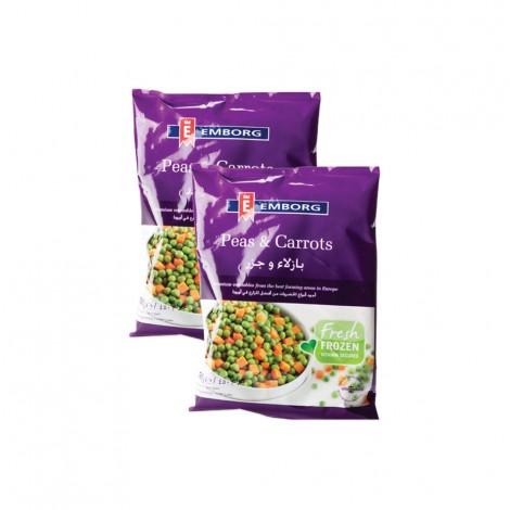 Emborg Garden Peas & Carrots 2x450gm
