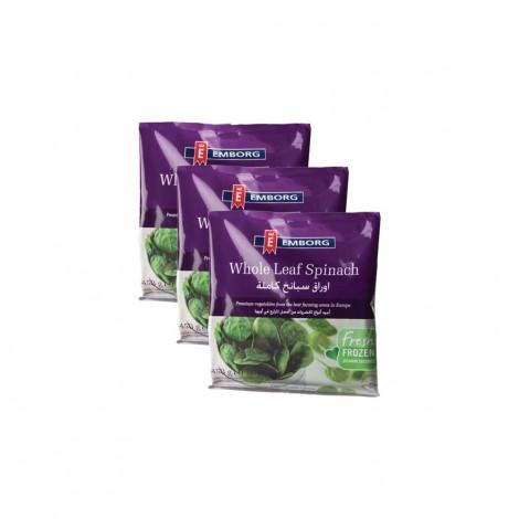 Emborg Whole Leaf Spinach - 3x450gm
