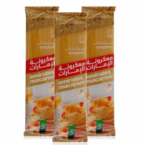 Emirates Macaroni Spaghetti 3X400 gm