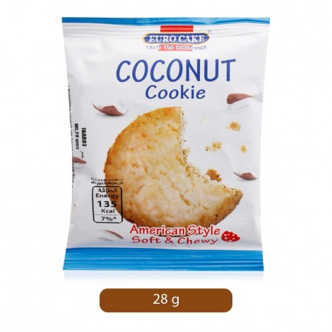 Euro Cake Chocolate Chip Soft & Chewy Coconut Cookie - 28 g