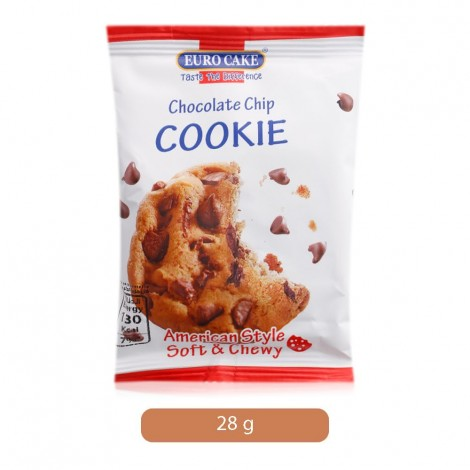 Euro Cake Chocolate Chip Soft & Chewy Cookie - 28 g