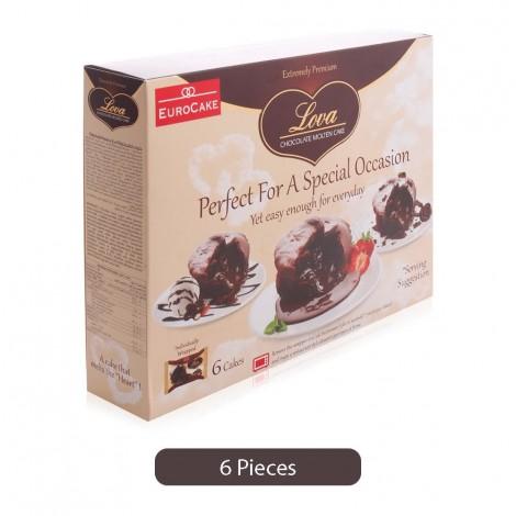 Euro Cake Chocolate Molten Cake - 6 Pieces