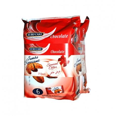 Euro Cake Jumbo Croissant Chocolate - 2x300gm