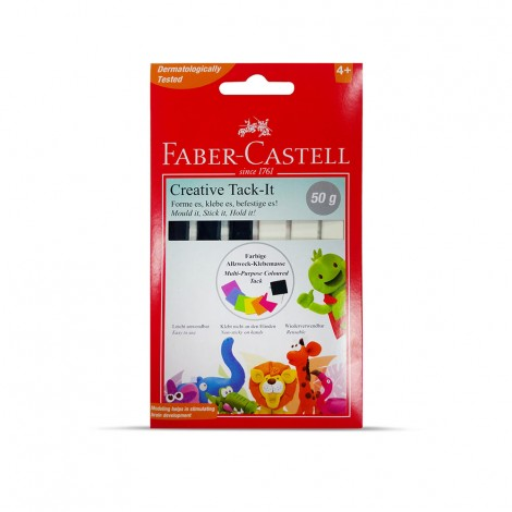 Faber Castell Display Of 25 Pkts - 50gm Adhesive Creative Black And White