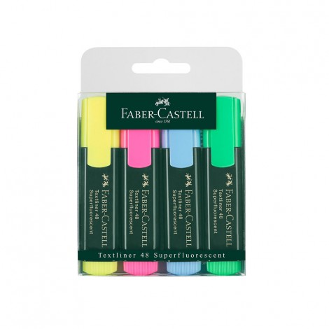 Faber Castell Classic Highlighter Wallet Of 4