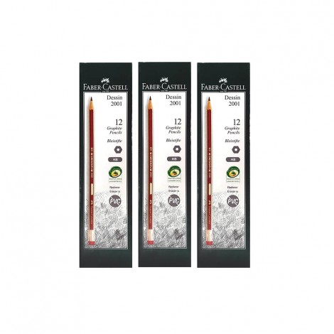 Faber Castell FC Dessin Black Led Pencil HB - 3x12