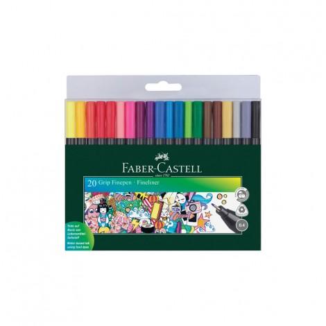 Faber Castell Grip Fine Pen 0.4Mm, 20 Pcs