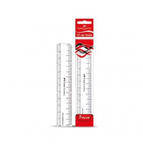 Faber Castell Plastic Clear Ruler Slim 15cm