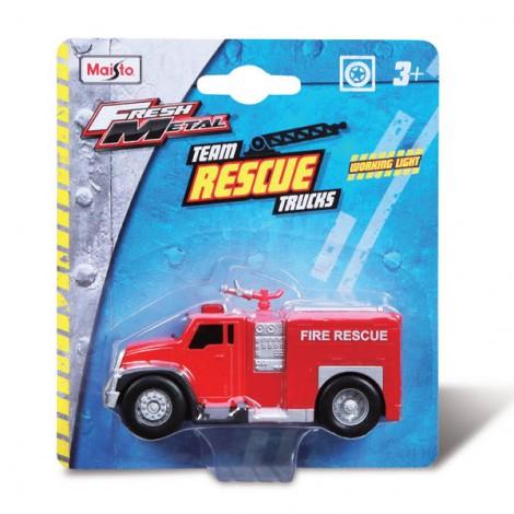 Maisto Fm Rescue Fire Truck 3.75 W/Li