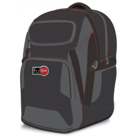 Full Stop (1972) School Bag Color Black BackPack  2 FCBB-106