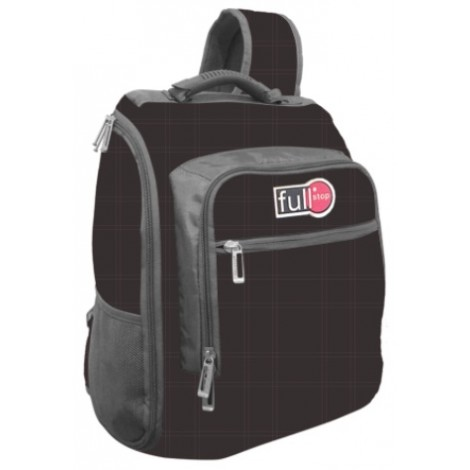 """Full Stop (1989) School Bag 17"""" Color Black One Hand BackPac"""