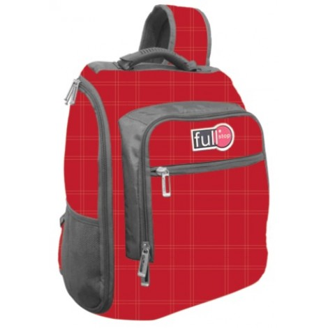 "Full Stop (2047) School Bag 17"" Color Red One Hand BackPack"